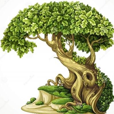 Za devetimi gorami, za devetimi vodami, prav na koncu sveta, kamor niti ptiček ne prileti, je modro morje.  Na koncu tega morja je zelen otok.  Na tem otoku je prekrasno zlato drevo.  In to zlato drevo ima dvanajst vej.  Na vsaki veji je gnezdo in v vsakem gnezdu je po petnajst jajc iz čistega kristala.  Le lupinico razbij, pravljico iz nje izvij!  /Pravljica o drevesu pravljic, češka ljudska/